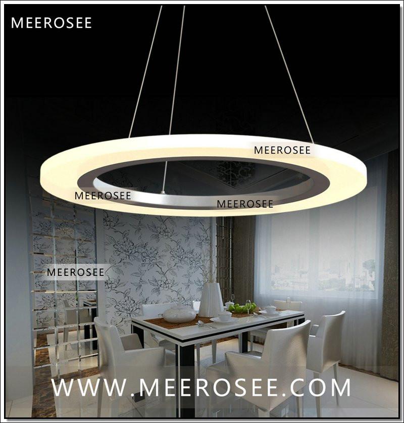 Acrylic led ceiling lamp wrought iron flush mount modern pendant light
