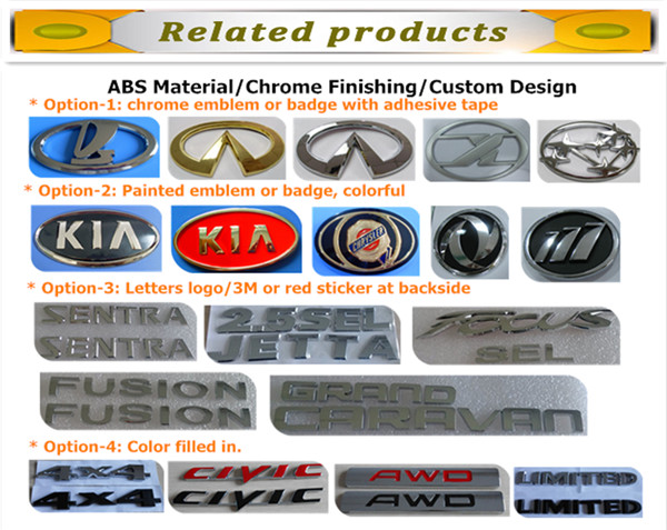 wholesale custom ABS foreign logo car emblem
