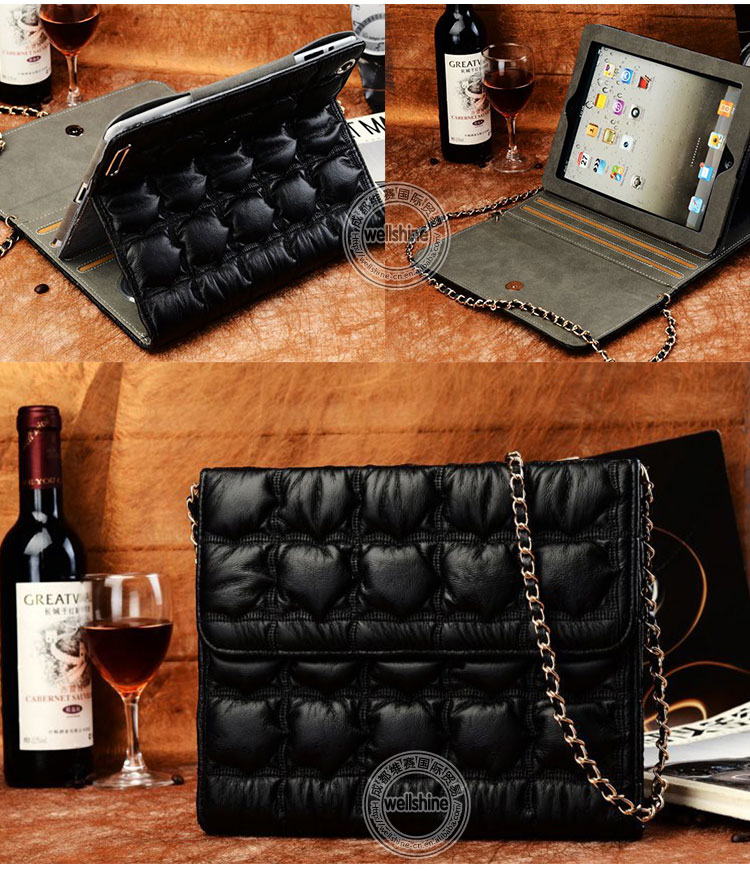 Fashionable For Ipad 4 Leather Cases with Bread Bag Style from Well Shine