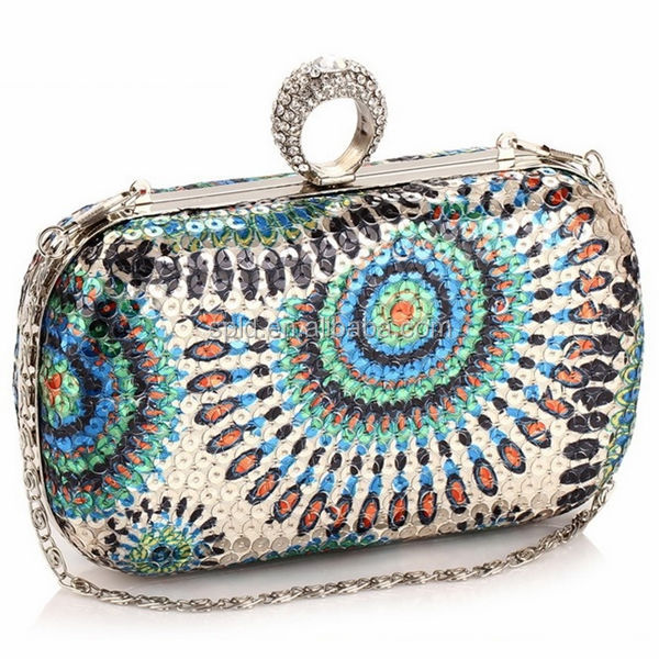 2014 colorful women fashion sequin diamond cheap luxury famous brand handbags