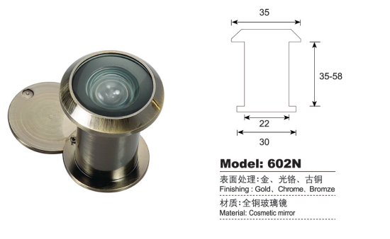 Brass Door Viewer / Peephole Viewer With Cover Hi 602n   Buy Door ...