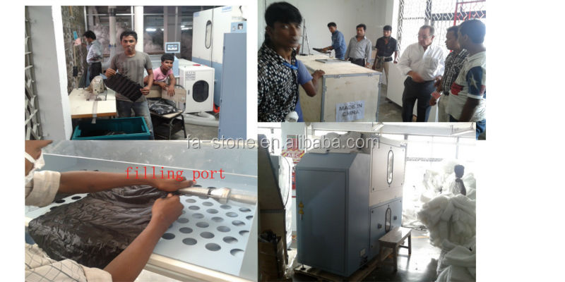 down filling machine used in Bangladesh garment manufacturer