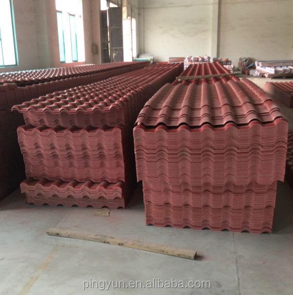 Synthetic resin roofing tile asa spanish roof tile asa for Metal roof that looks like spanish tile