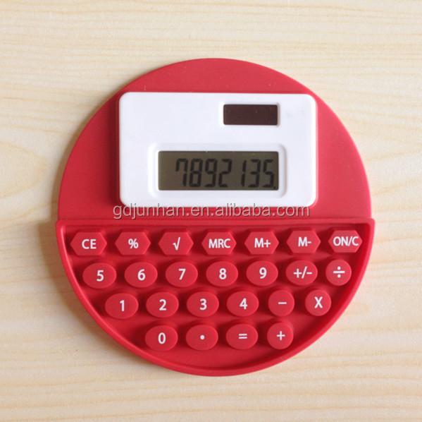 Foldable silicone mini solar calculator