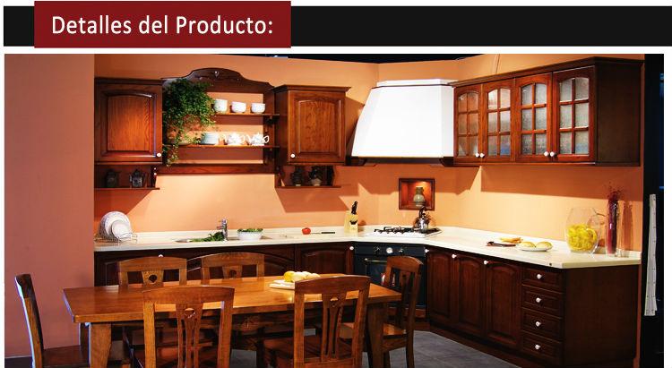 elegante y de antiguedad madera mesas para cocina