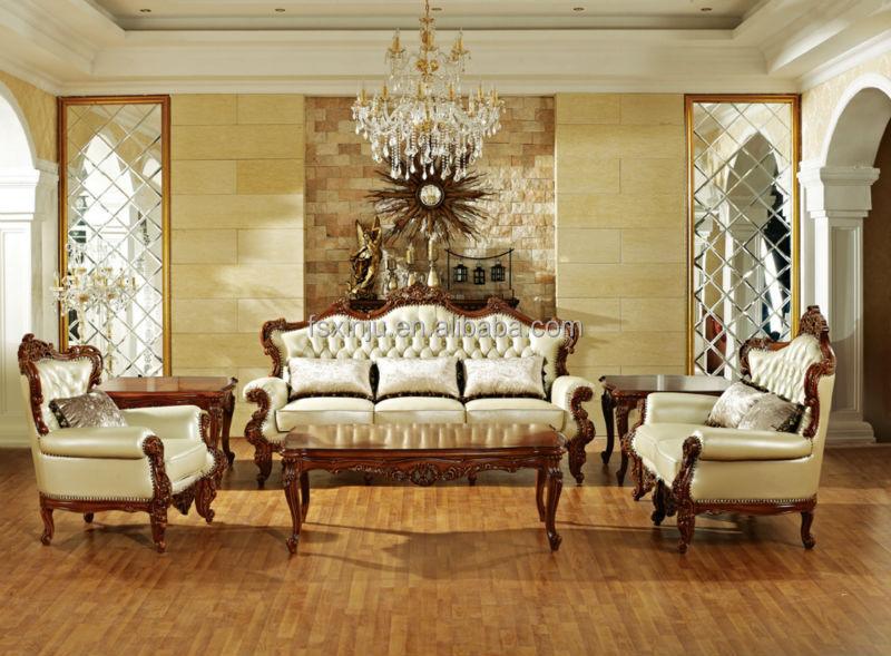 Canap s de luxe italien pour la vente 2015 canap classique en bois de style - Salon de luxe italien ...