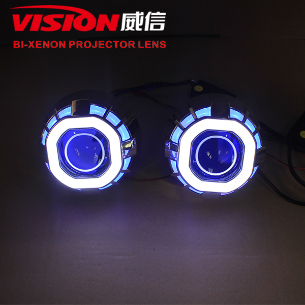 ... Led Double Angel Eyes Hid Xenon Projector Lens Lamp (5) Good Ideas