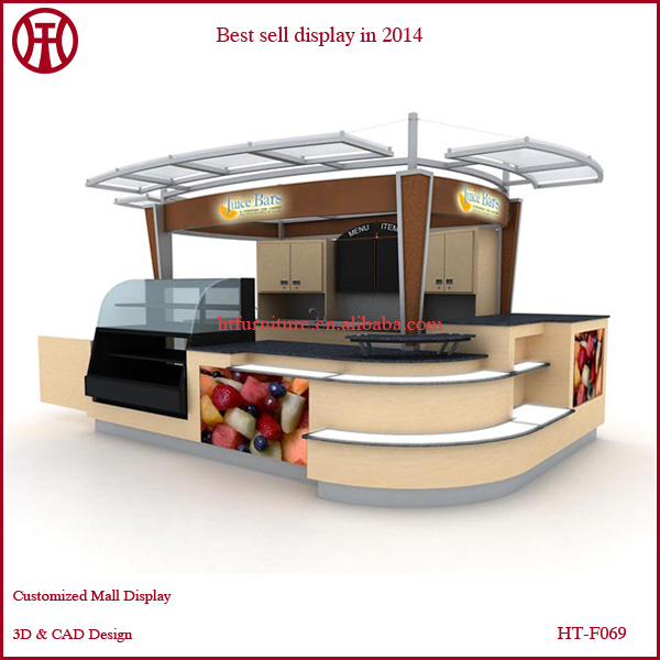 3d Max Design For Retail Store Juice Kiosk