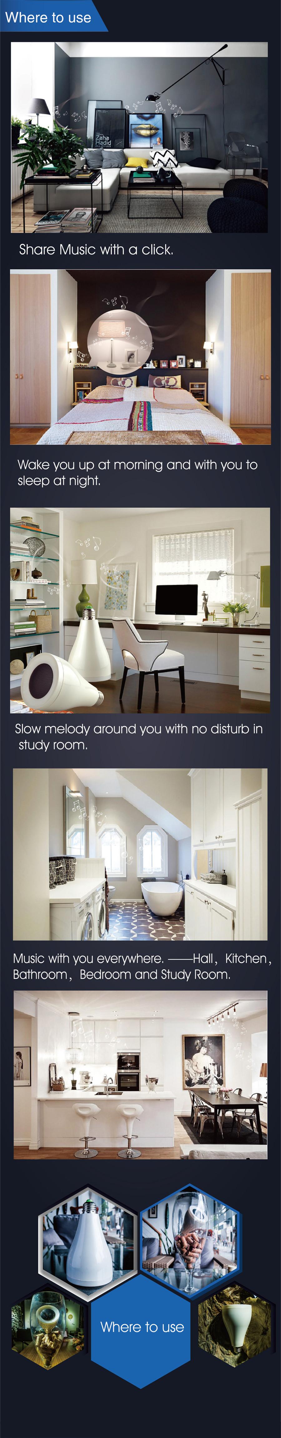 Пластиковая мебель IMEMO Bluetooth , + Music Bulb