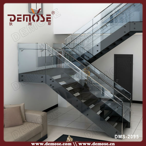 Exterior metal stairs wood stair steps home staircase for Exterior steel stair design