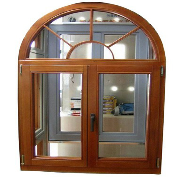 Walnuts color arch window grill design half moon windows for Arch door design