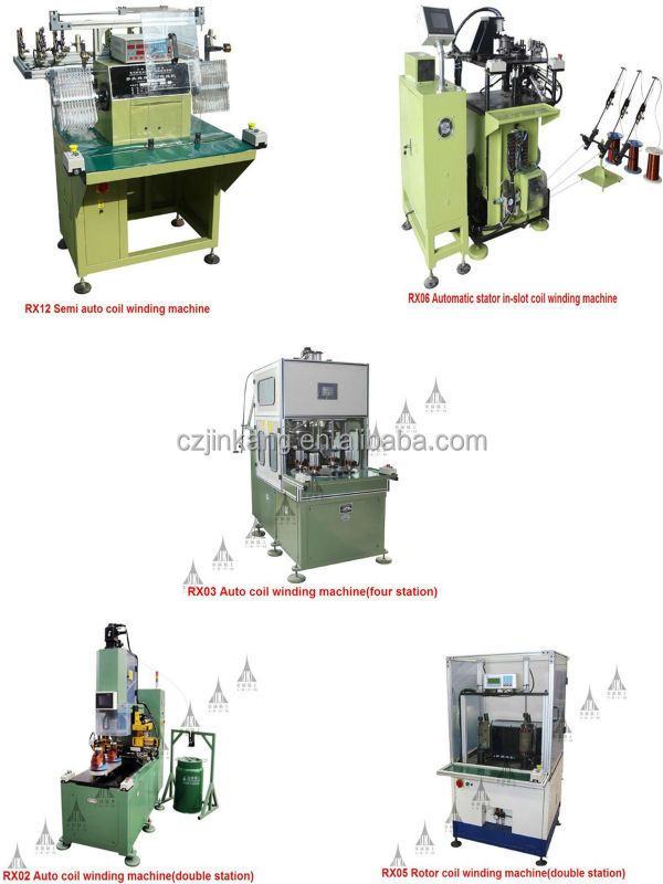Automatic four-station electric motor stator coil winding machine for 12mm-80mm suitable stack height with stable quality