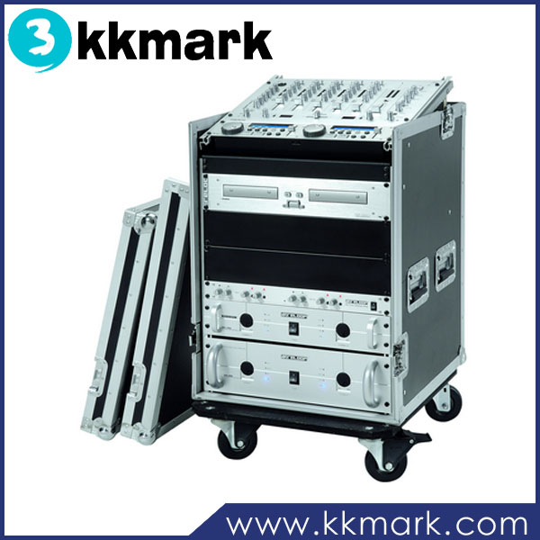 Inch mixer rack flight case with wheels buy mixer rack case 19 inch