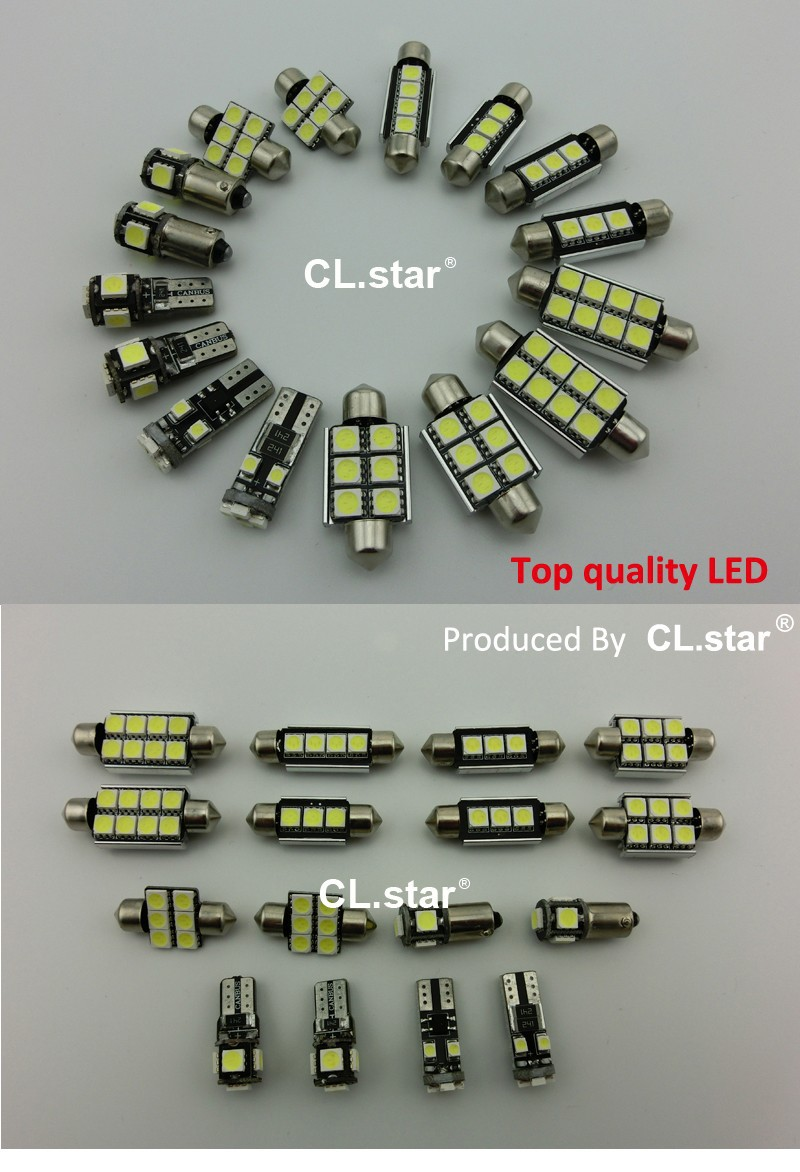 Купить 17 шт. Х canbus Ошибка Бесплатно для Audi A6 C6 S6 RS6 Quattro седан LED Внутренних Свет Комплект Упаковки (2005-2011)