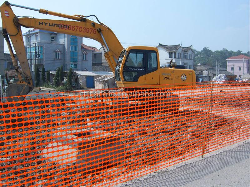 High quality hdpe u v stabilized orange safety fence