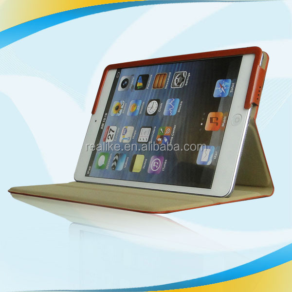 2014 Top One Selling for ipad mini leather case with flip stand wallet
