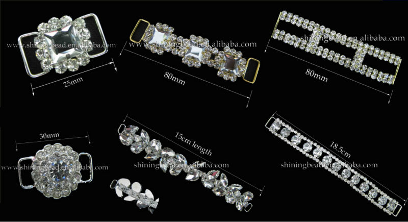 high quality rhinestone bikini connector