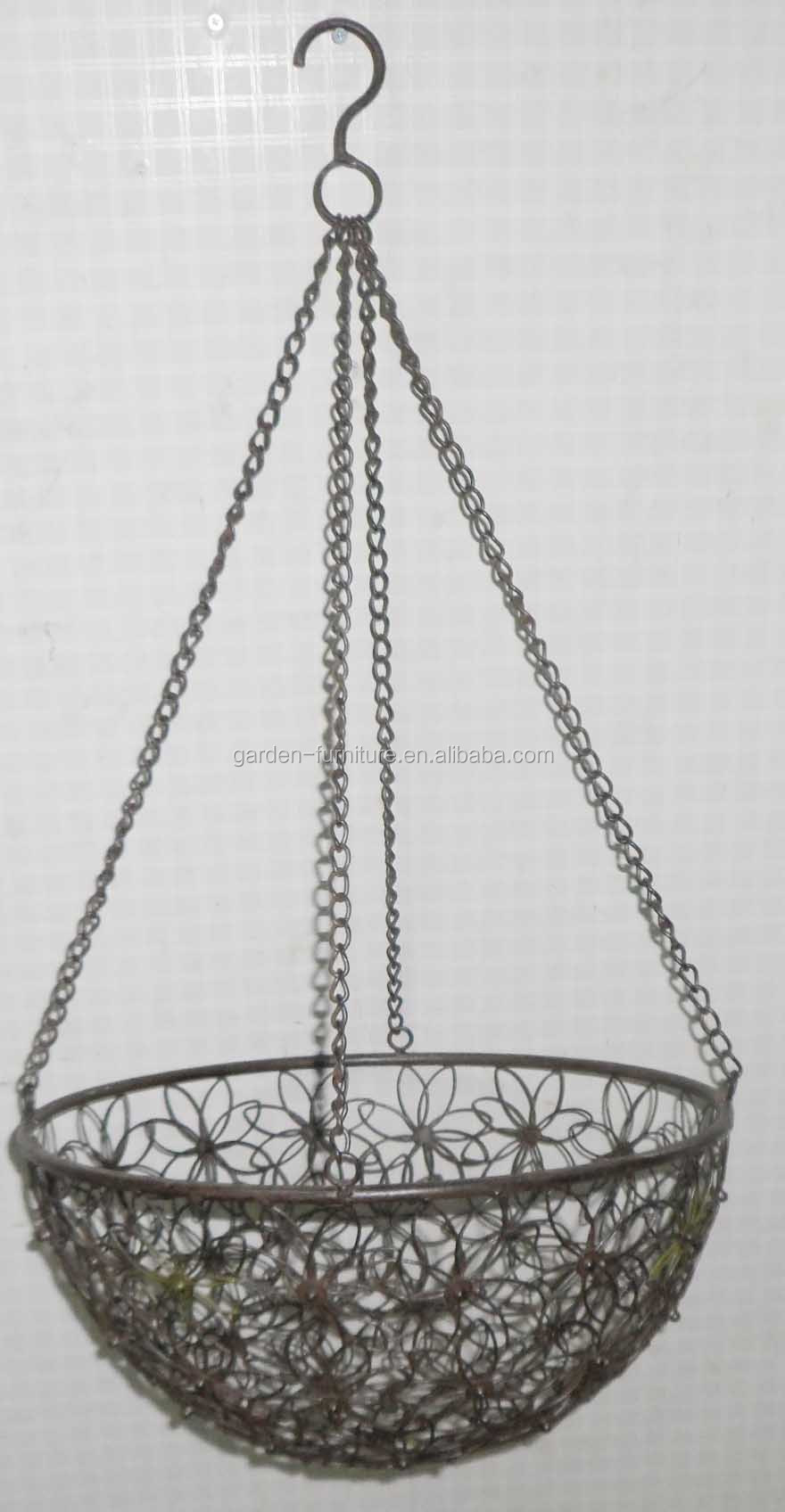 Charmant Metal Hanging Basket Planter