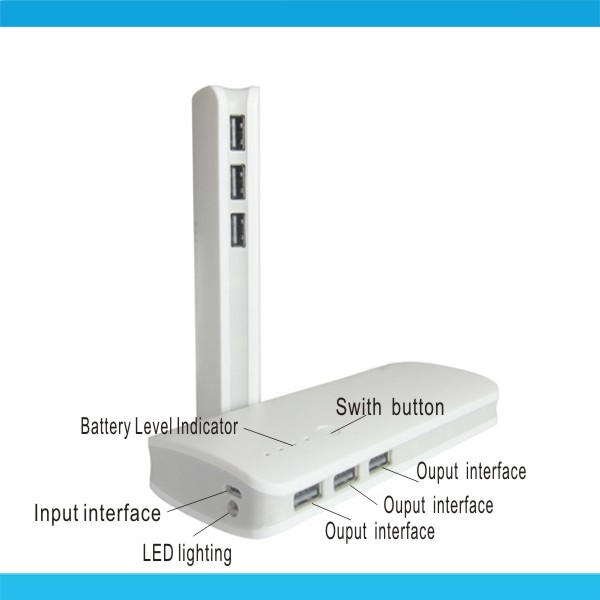 Factory Direct Supply High Capacity Power Bank With Led Light