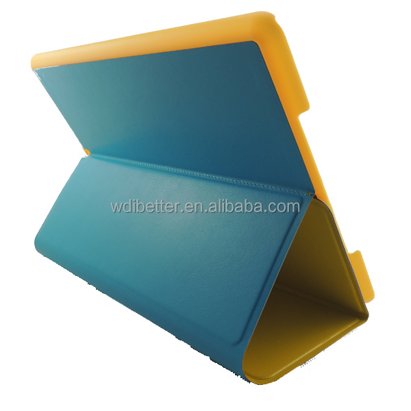 Automatic Sleep & Functional Smart Case 5 Shapes Transformer Folding Cross Pattern Cover For Ipad 5