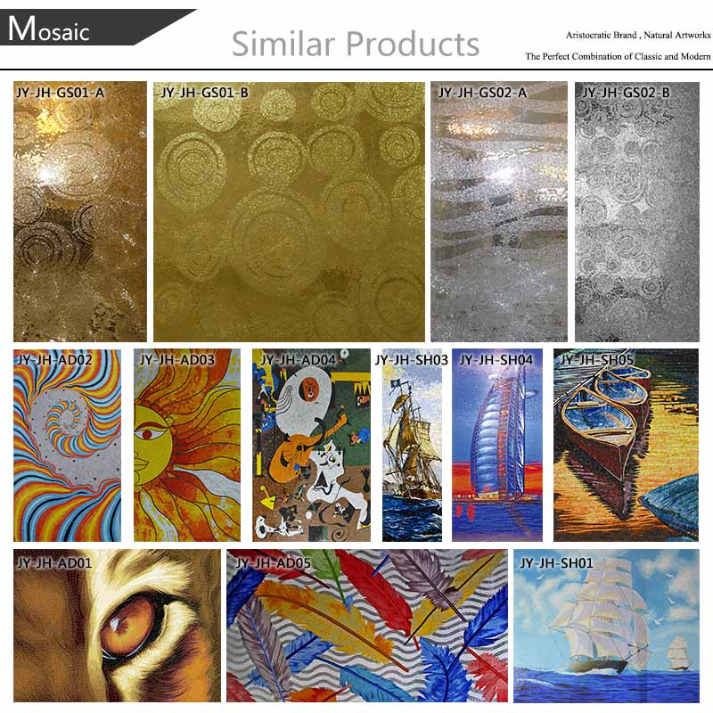 Wholesale ljo jy jh oc02 undersea world mosaic painting for Decorative mural painting