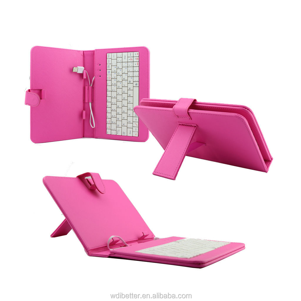Flip Stand Keyboard Leather case for Android 2.2 8inch tablet pc Freescale A8