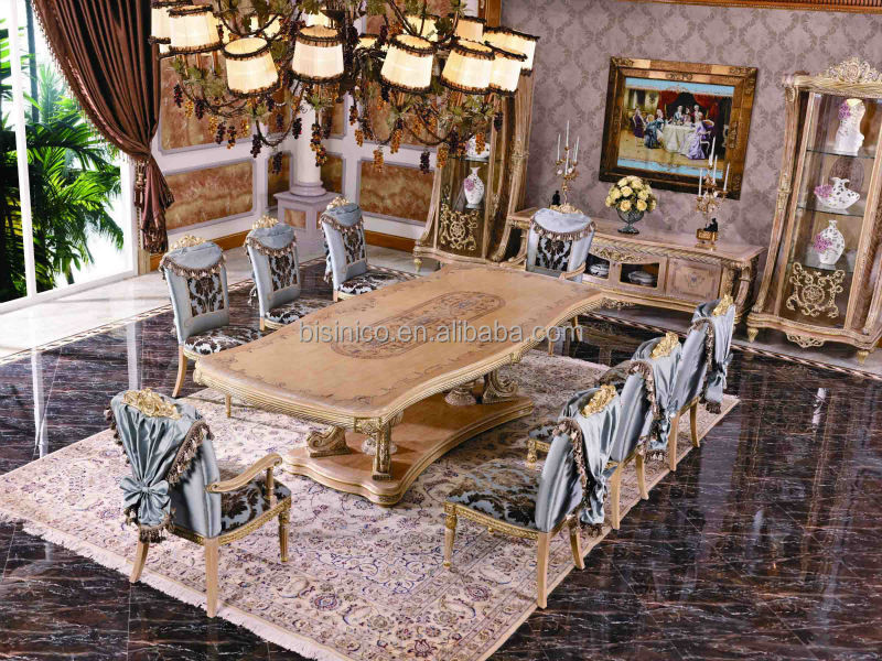 Bisini Dining Room Solid Wood Italian Style Luxury Long Ding Table, View tabl