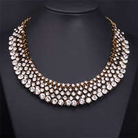 ZA бренд ожерелье заявление большой коренастый колье воротник нагрудник ожерелье кристалл бусы & Кулоны бижутерия для женщин