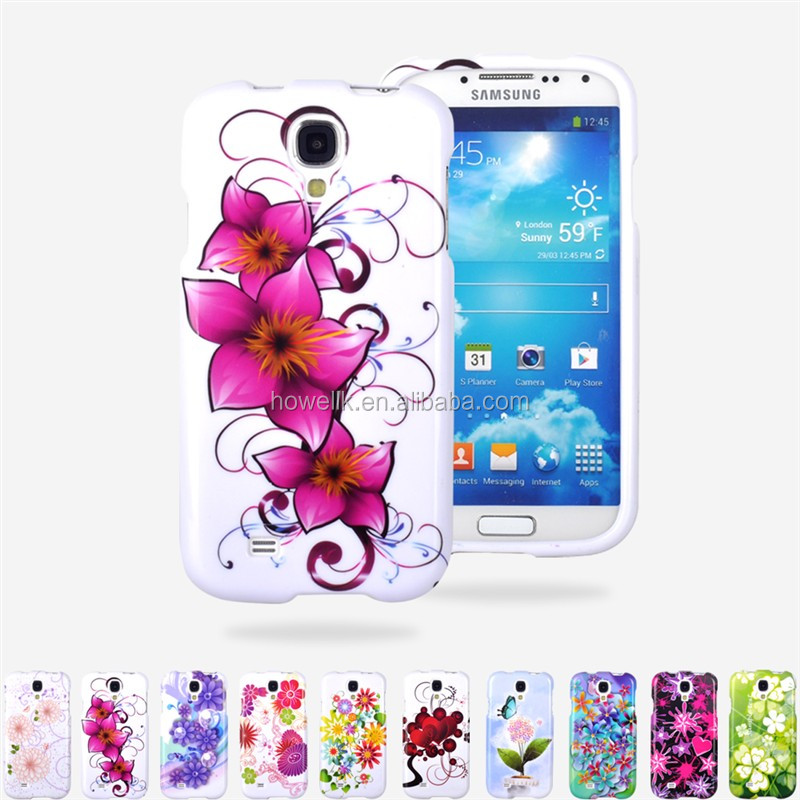 hot! case for samsung galaxy s4 flower