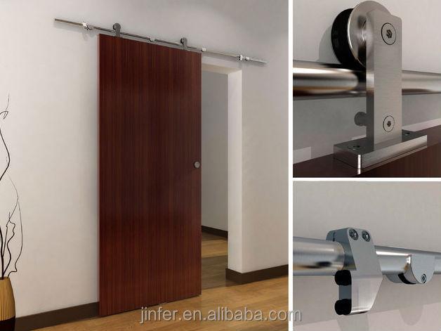 in acciaio inox moderna in legno porte scorrevoli fienile nuovo ... - Legno Di Teak Porta Dingresso Di Fusione