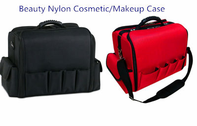 Multi-purpose professional travel style nylon cosmetic luggage trolley bag beauty suitcase