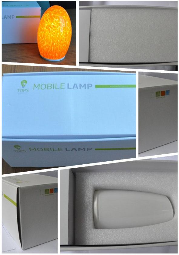 새로운 도착 무선 레스토랑 충전식 테이블 램프 3000ma 작은 주도 ...
