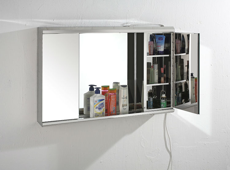hot sale cheap prize bathroom mirror cabinets with lights ymt 7006