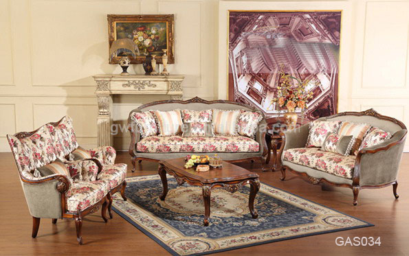 Wholesale Antique Living Room Furniture French Country Style Sofa Set A28 A