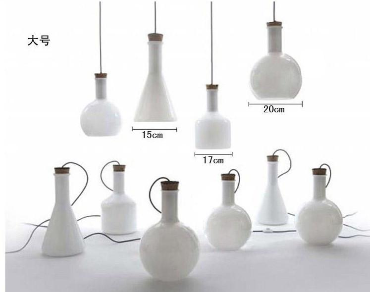 Купить Белого стекла подвесной 3 главы творческое начало светильник экспериментальная бутылка висит лампа E27 110 - 240 В PL057