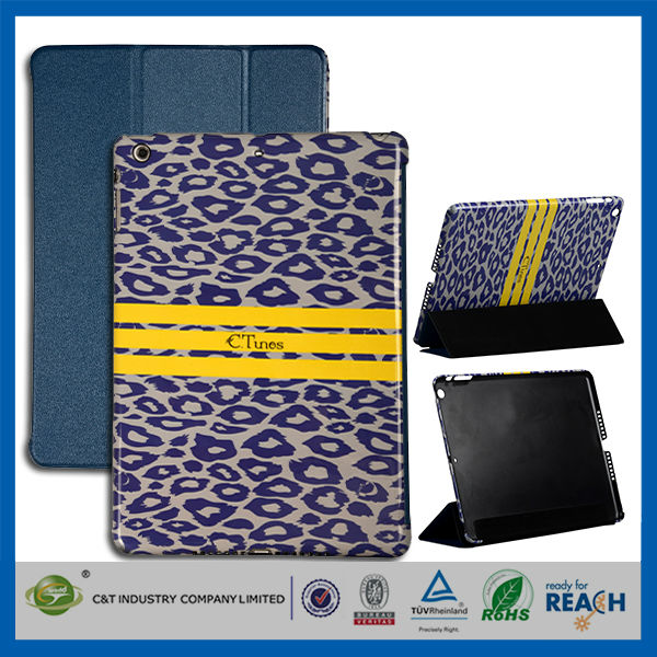 C&T C.tunes leopard design stand flip leather case for ipad air