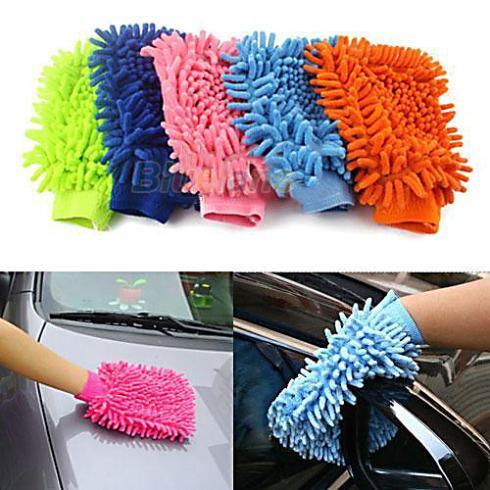 Перчатки для чистки автомобиля фото