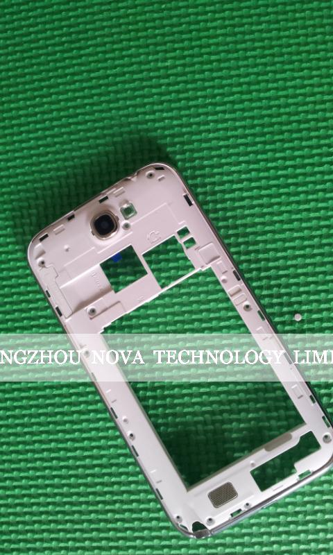 Original Replacement Chassis Bezel Frame Housing With Button For Samsung Galaxy Note 2 N7100 Black/White Parts;HK Free 10pcs/lot