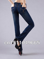New 2014 famous brand women jeans 100% cotton trousers | Fashion Fashion 25-33 XL lager size denim jeans woman