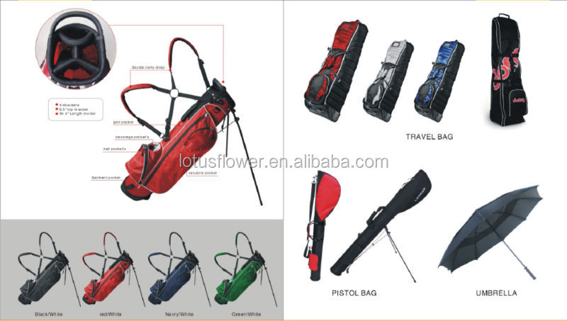 2014 Hot Sale Luxury PU Material Golf Travel Bag