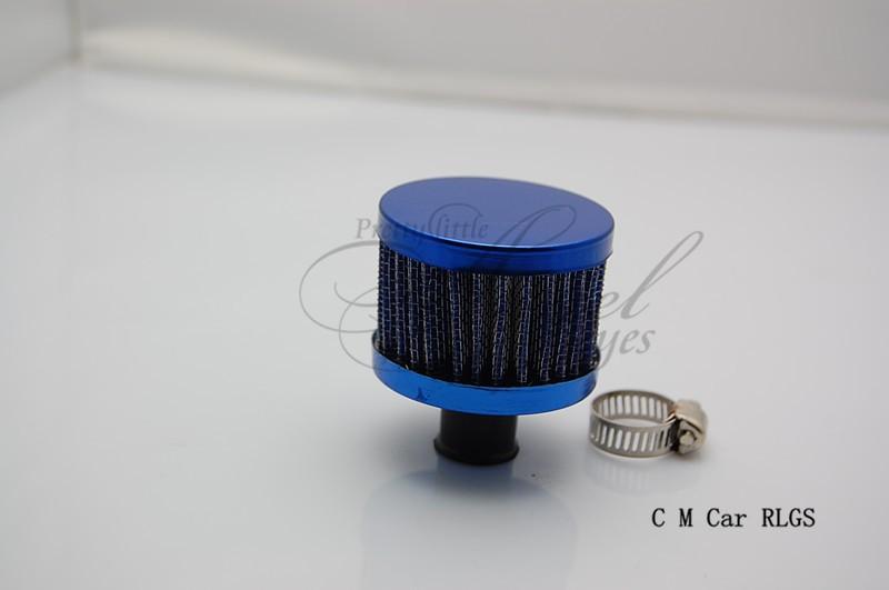 углеродного волокна, красный, синий, 12 мм автомобильной фильтр клапана крышки вентиляционного воздуха, воздуха впускного голову пустой в системе