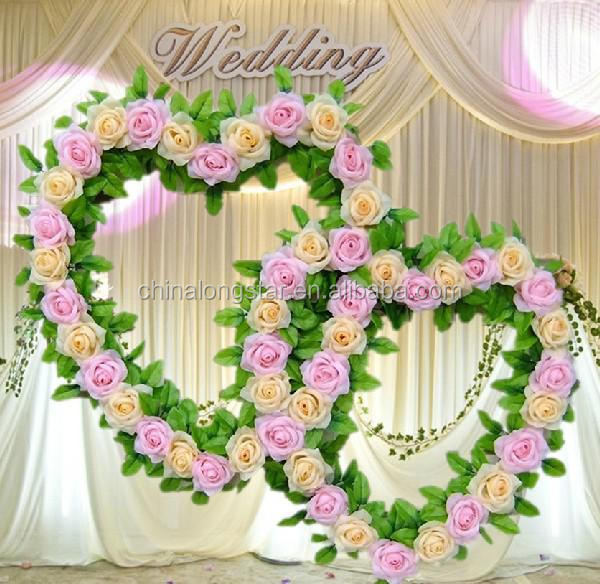 Beautiful Artificial Flowers Garlands Used For Wedding Stage