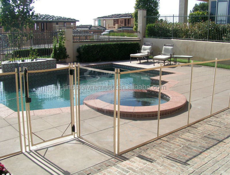 Removable safety mesh pool fence for swimming buy