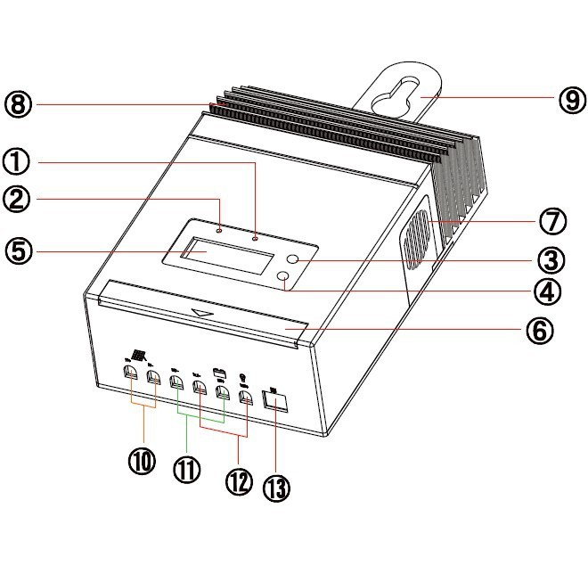 mppt solar charge controller regulator 12v  24v  48v auto