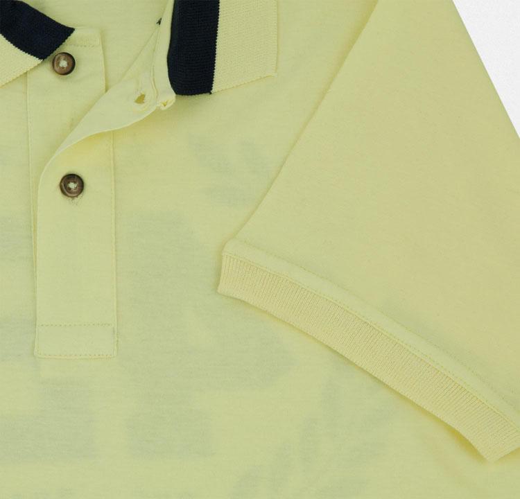 Yellow Polo Logo Printing Yellow Polo Shirt For