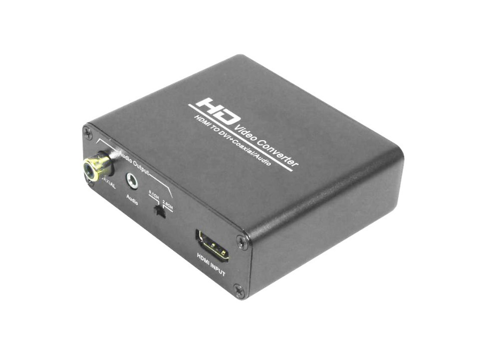 new 1080p hd video hdmi to dvi coaxial audio converter adapter box for ps4 xbox1 hdmi hdmi naar. Black Bedroom Furniture Sets. Home Design Ideas