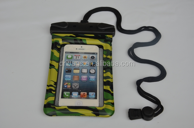 wholesale eco-friendly pvc clear waterproof pouch bag for iphone 5 with armband