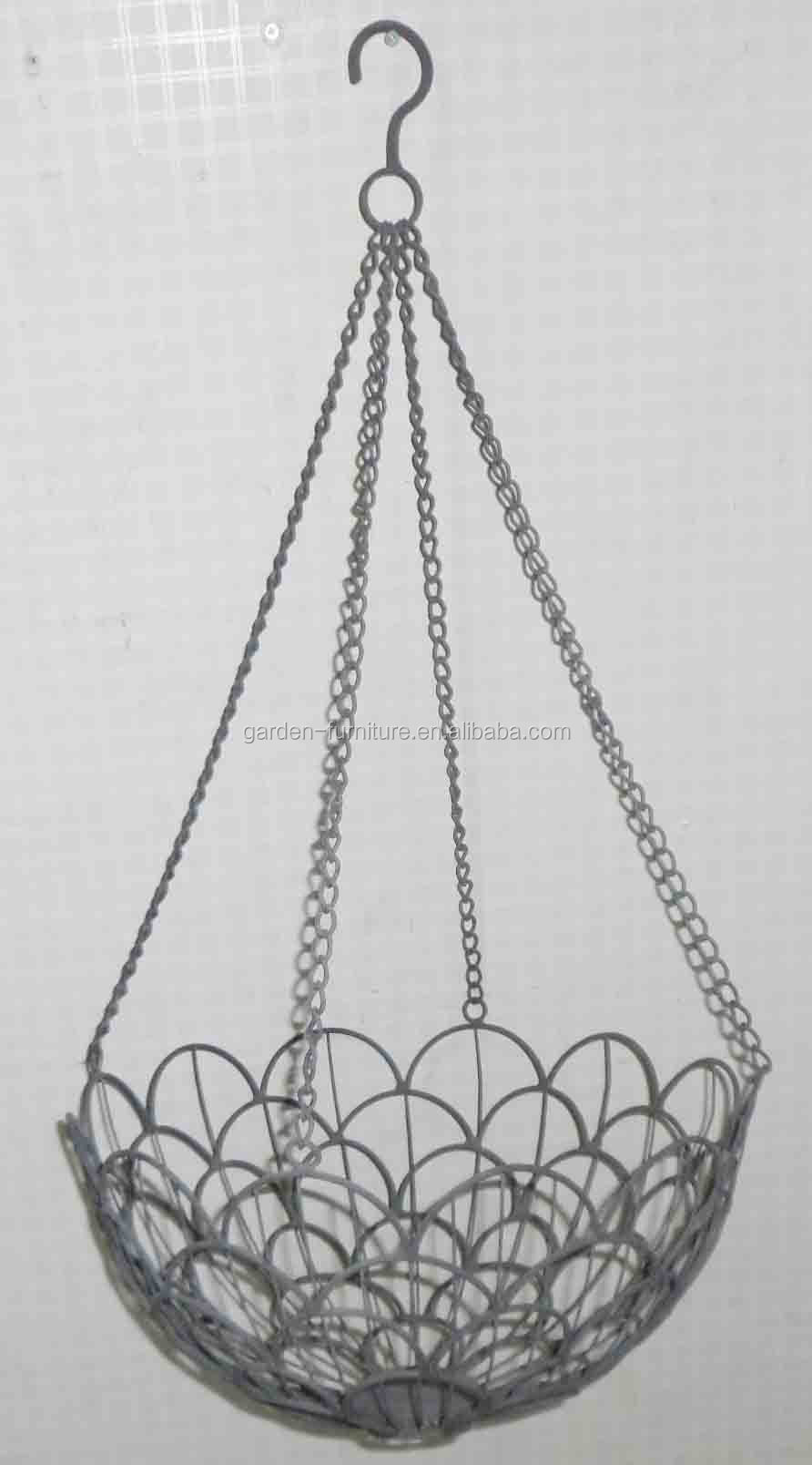 Handicraft Decorative Metal Planter Fruit Bowl Wrought Iron Hanging ...