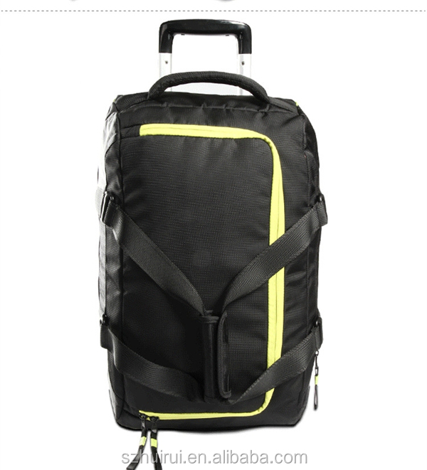 new style fashion multifunction sport trolley travel bag on wheels