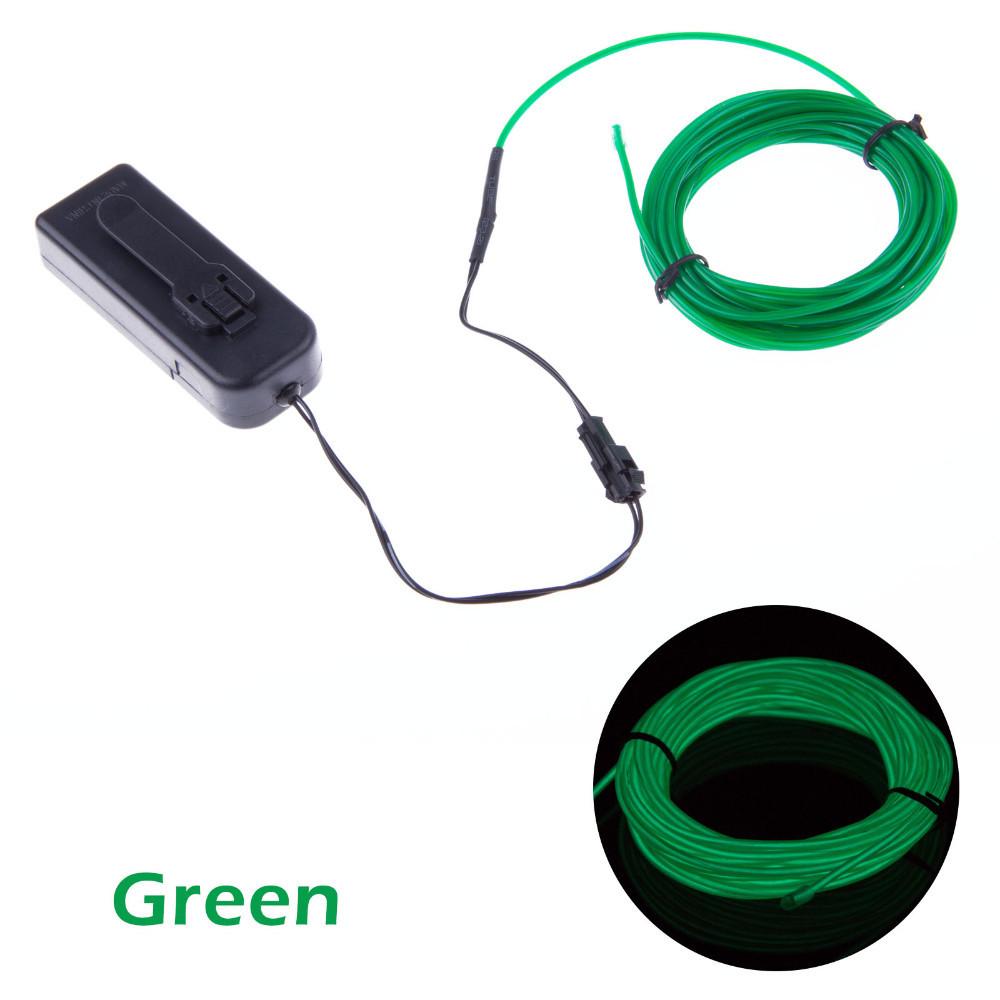 10 Colors Select 3M Flexible Neon Light EL Wire Rope Tube White/Orange/Pink/Red/Yellow/Blue/Green/Lmeon/Indigo/Purple+Controller